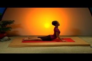 teen yoga cobra pose